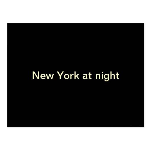 Nueva York en la noche Tarjetas Postales