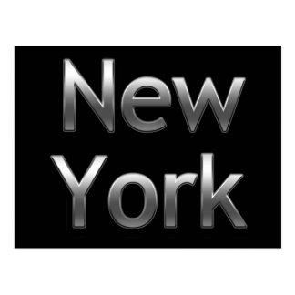 Nueva York industrial - en negro Postal