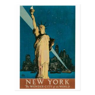 Nueva York La ciudad de la maravilla del poster d Tarjetas Postales