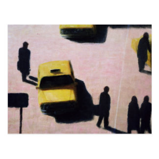 Nueva York lleva en taxi 1990 Postal