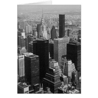 Nueva York, Manhattan blanco y negro Tarjeta De Felicitación