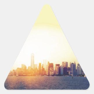 Nueva York Nueva York Pegatina Triangular
