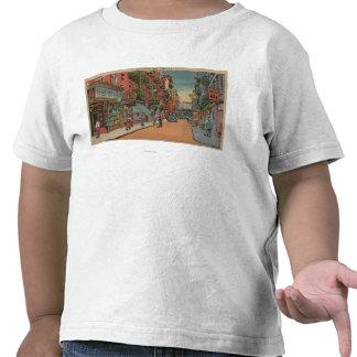 Nueva York, NY - vista de las tiendas de Chinatown Camiseta