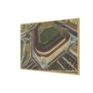 Nueva York, NY - Yankee Stadium del aire #1 Impresiones En Lona Estiradas