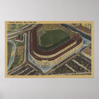 Nueva York, NY - Yankee Stadium del aire #1 Póster