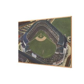 Nueva York, NY - Yankee Stadium del aire #2 Lona Envuelta Para Galerias