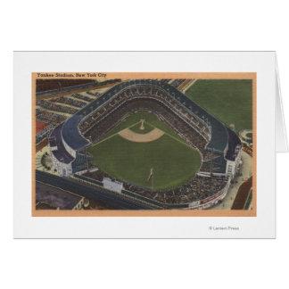 Nueva York, NY - Yankee Stadium del aire #2 Tarjeta De Felicitación