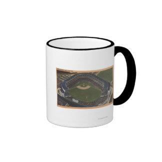 Nueva York NY - Yankee Stadium del aire 2 Taza De Café