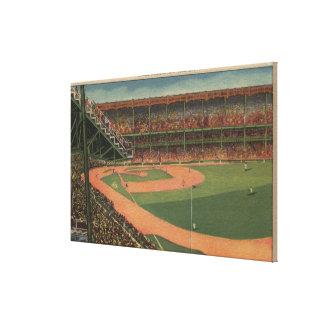 Nueva York, NY - Yankee Stadium Lienzo Envuelto Para Galerias