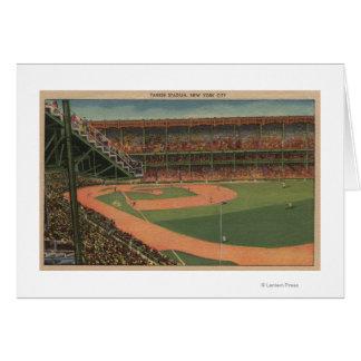 Nueva York, NY - Yankee Stadium Tarjeta De Felicitación