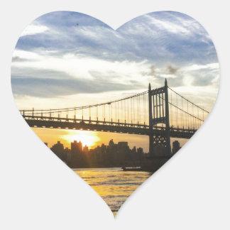 Nueva York Pegatina En Forma De Corazón