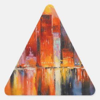 Nueva York Pegatina Triangular