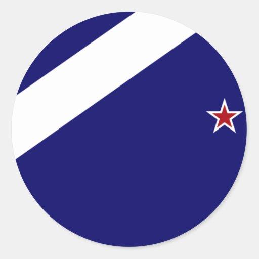 Nueva Zelanda (alternativa), bandera de Nueva Zela Etiqueta