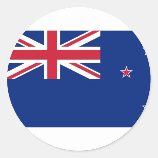 Nueva Zelanda, bandera de Nueva Zelanda Pegatinas Redondas