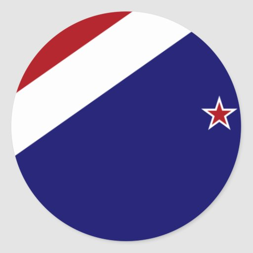 Nueva Zelanda, bandera de Nueva Zelanda Etiqueta
