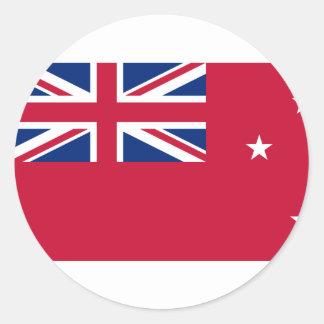 Nueva Zelanda, bandera de Nueva Zelanda Pegatina Redonda