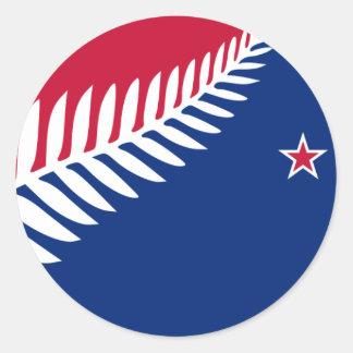Nueva Zelanda, Nueva Zelanda Pegatina Redonda