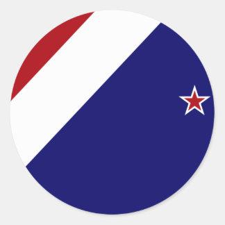 Nueva Zelanda, Nueva Zelanda Etiqueta Redonda