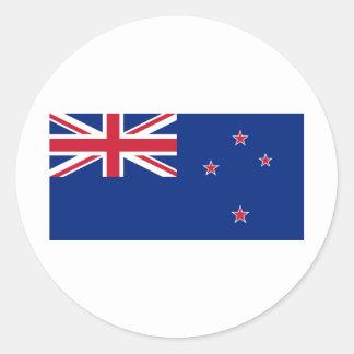 Nueva Zelanda NZ Pegatinas Redondas