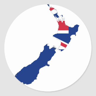 Nueva Zelanda NZ Etiqueta Redonda