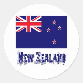 Nueva Zelanda Pegatinas Redondas
