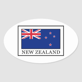 Nueva Zelanda Pegatina Ovalada