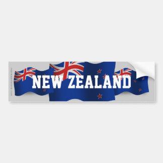 Nueva Zelanda que agita la bandera Pegatina Para Coche