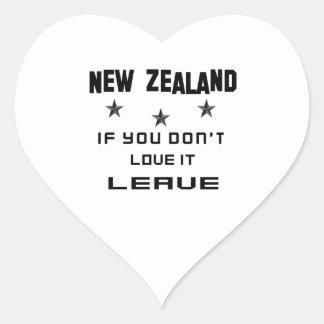 Nueva Zelanda si usted no lo ama, se va Pegatina En Forma De Corazón