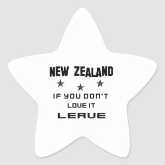 Nueva Zelanda si usted no lo ama, se va Pegatina En Forma De Estrella