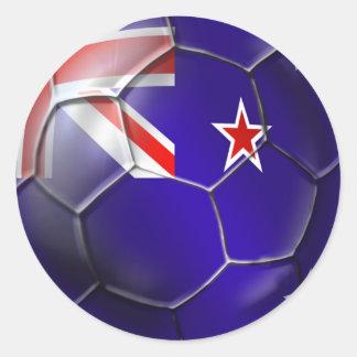 Nueva Zelanda toda la bola de la bandera del kiwi Pegatina Redonda