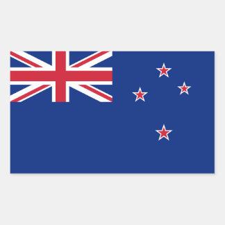 Nueva Zelanda/Zealander/bandera del kiwi Pegatina Rectangular