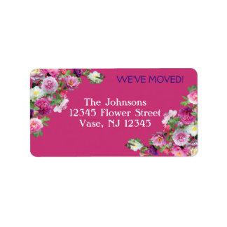 Nuevas etiquetas de dirección de las flores