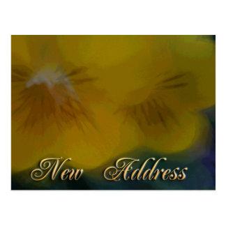 Nuevas flores del amarillo de la dirección postal
