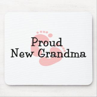 Nuevas huellas orgullosas de la niña de la abuela tapetes de ratón