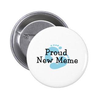 Nuevas huellas orgullosas del bebé de Meme Pins