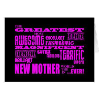 Nuevas madres de la diversión moderna fresca La n Felicitación