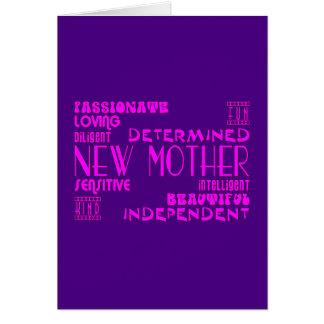 Nuevas madres y nuevas fiestas de bienvenida al be tarjetón