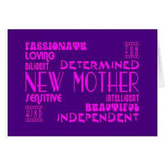 Nuevas madres y nuevas fiestas de bienvenida al tarjeta de felicitación