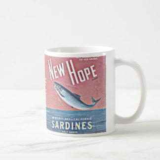 nuevas sardinas de la esperanza taza clásica