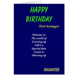 Nuevas tarjetas de cumpleaños de la adolescente-hi