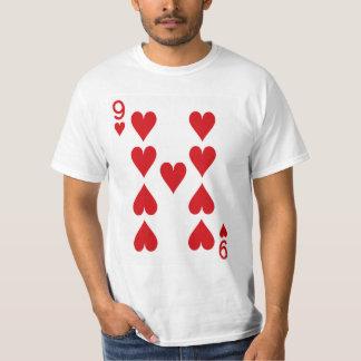 Nueve del naipe de los corazones camiseta