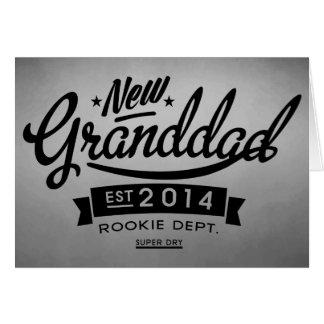 Nuevo abuelo 2014 (investigación) tarjeta de felicitación