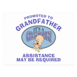 Nuevo abuelo del nuevo nieto muy divertido postal