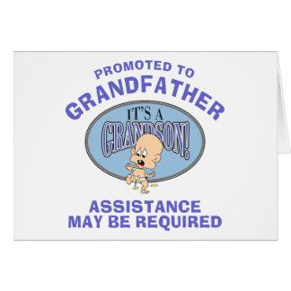 Nuevo abuelo del nuevo nieto muy divertido felicitación