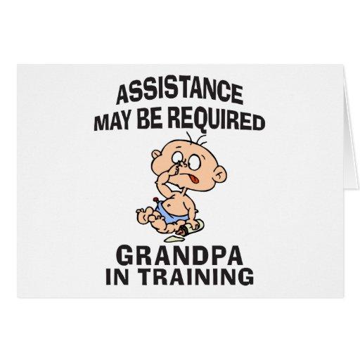Nuevo abuelo en el entrenamiento felicitacion