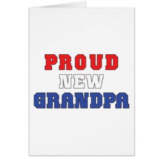 Nuevo abuelo orgulloso tarjeta de felicitación