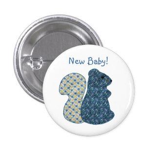 Nuevo bebé de la ardilla azul linda del estilo rur pins