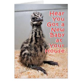 Nuevo bebé en su casa tarjeta de felicitación