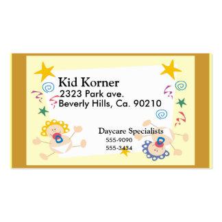 Nuevo bebé o chica agradable tarjetas de visita