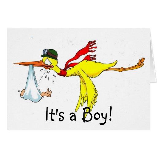 ¡Nuevo bebé que hace pis en la cigüeña! Felicitaciones
